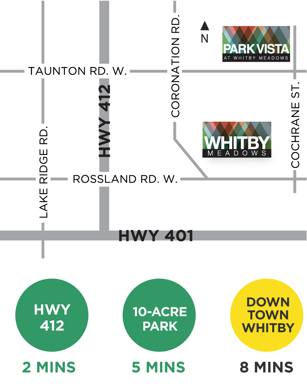 Whitby Meadows Location Map